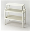 Appleton Glossy White Tiered Console Table, Glossy White