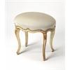 Michelline Cream & Gold Painted Vanity Stool, Cream & Gold