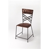 Hackney Brown Leather Side Chair, Brown Leather