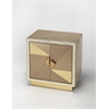 Xavier Gold Leather Accent Cabinet, Cosmopolitan