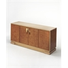 Chauncey Leather Console Cabinet, Cosmopolitan