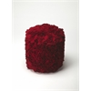 Layla Red Floral Pouffe, Red