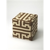 Labyrinth Wool Pouffe, Loft