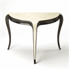 Alexis Leather Demilune Console Table, Cosmopolitan