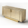 Francois Gold Leather Buffet, Cosmopolitan