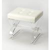 Morena Acrylic Vanity Stool, Clear Acrylic