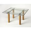 Cirrus Glass & Metal Cocktail Table, Loft
