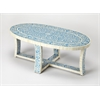 Sabina Blue Bone Inlay Cocktail Table, Blue Bone Inlay