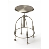Reavis Silver Bar Stool, Industrial Chic