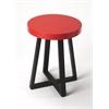 Bram Red & Black End Table, Loft