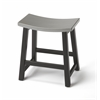 Dwyer Silver & Black Stool, Loft