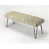 Ansel Cotton Upholstered Bench, Loft