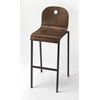Lucroy Walnut Bar Stool, Loft