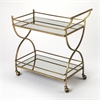 Graci Antique Gold Bar Cart, Antique Gold