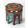 Malay Hand Painted End Table, Artifacts