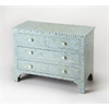 Chevron Blue Bone Inlay Console Chest, Blue Bone Inlay