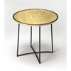Brooke Iron & Wood Accent Table, Loft