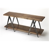 Scissors Iron & Wood Console Table, Industrial Chic