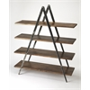 Scissors Iron & Wood Etagere, Industrial Chic