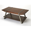 Lamont Iron & Wood Cocktail Table, Industrial Chic