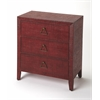 Romy Red Raffia Console Chest, Red