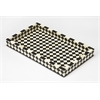 Vermeer Black Bone Inlay Serving Tray, Black Bone Inlay