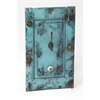 Neely Rustic Blue Wall Mount Hook Rack, Hors D'oeuvres
