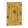 Neely Rustic Yellow Wall Mount Hook Rack, Hors D'oeuvres