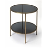 Roxanne Iron & Glass End Table, Loft