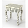 Signoret Gray Bone Inlay End Table, Gray Bone Inlay