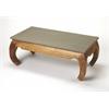 Chandu Concrete & Wood Cocktail Table, Loft