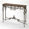 Algiers Wrought Iron Console Table, Connoisseur's