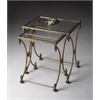 Butler Beverly Antique Gold Nesting Tables, Antique Gold