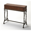 Butler Josef Metal & Wood Console Table, Old World Cherry