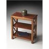Vance Olive Ash Burl Bookcase, Olive Ash Burl