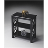 Vance Black Licorice Bookcase, Black Licorice