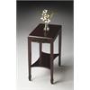 Gilbert Cordovan Side Table, Cordovan