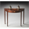 Butler Chester Olive Ash Burl Console Table, Olive Ash Burl