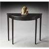 Chester Black Licorice Console Table, Black Licorice