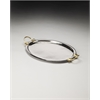 Drake Stainless Steel & Brass Serving Tray, Hors D'oeuvres