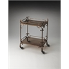 Delphine Iron & Glass Serving Cart, Metalworks