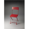 Bailey Red Folding Chair, Red
