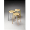 Easton Wood & Iron Stackable Stools, Industrial Chic