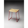 Parrish Wood & Metal Stool, Red