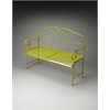 Butler Halle Metal Bench, Green