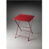 Bailey Red Folding Side Table, Red