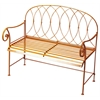 Ellipses Metal Bench, Orange