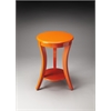 Holden Orange Contemporary Accent Table, Orange