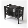 Butler Chippendale Black Licorice Magazine Basket, Black Licorice