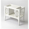 Chippendale Cottage White Magazine Basket, Cottage White